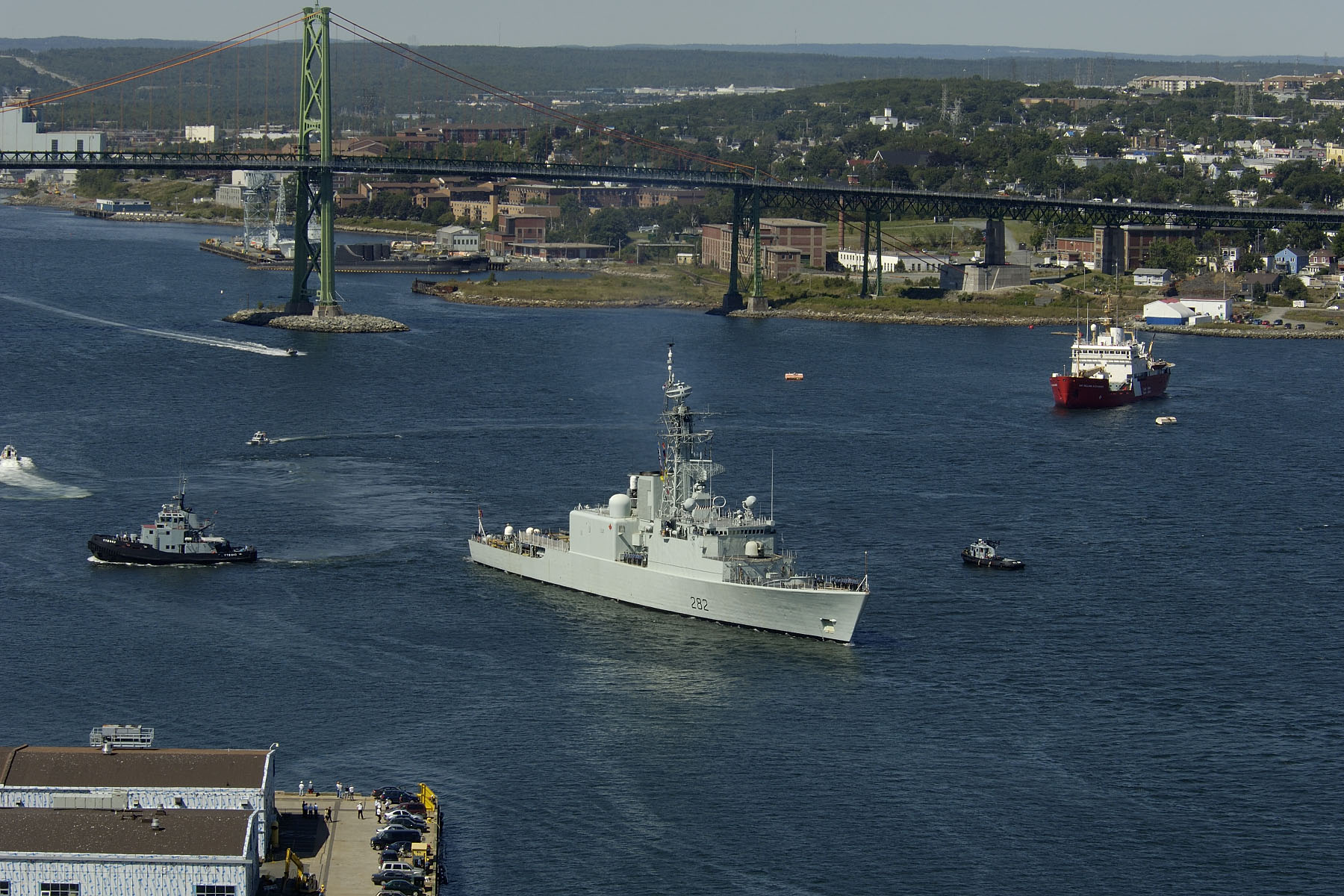 Ship's Departure from CFB Halifax